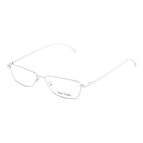 Unisex Askew Rectangular Optical Frames (Gold)