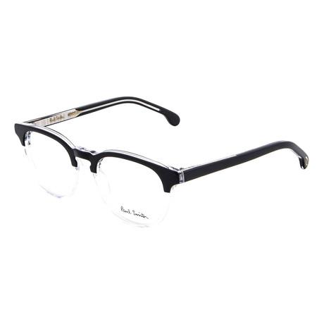 Unisex Abbott Square Optical Frames (Black Ink + Crystal)