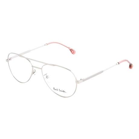 Unisex Angus Aviator Optical Frames // Silver (Size 55-17-145)