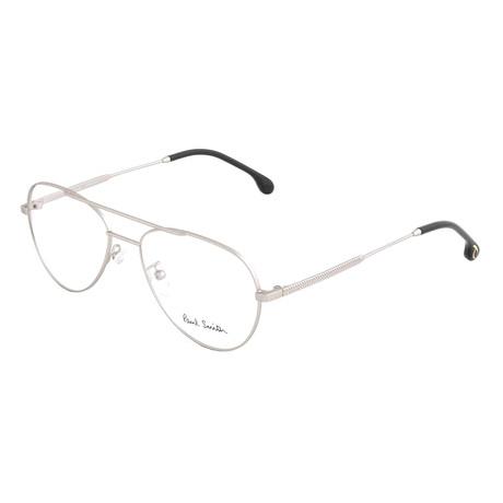 Unisex Angus Aviator Optical Frames // Matte Silver (Size 55-17-145)