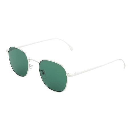 Unisex Arnold Square Sunglasses (Silver + Green)