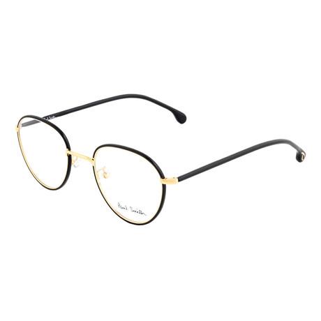 Unisex Albion Round Optical Frames (Black Ink + Gold)