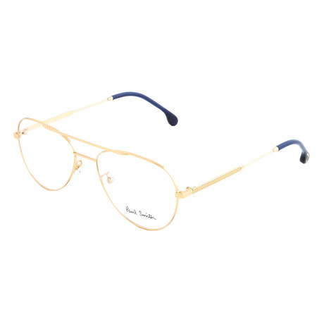 Unisex Angus Aviator Optical Frames // Gold (Size 55-17-145)