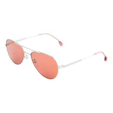 Unisex Angus Aviator Sunglasses (Gold + Blue)