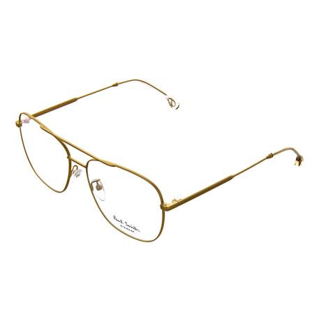 Unisex Avery Pilot Optical Frames // Matte Gold (Size 56-17-145)