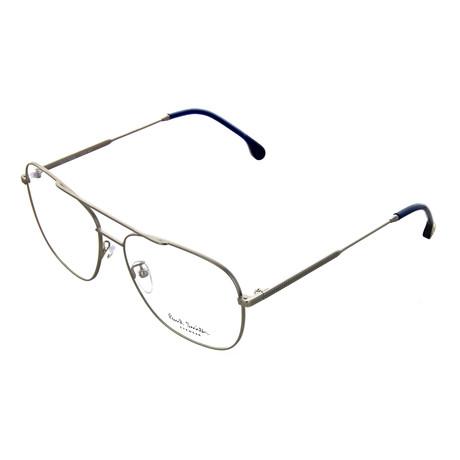 Unisex Avery Pilot Optical Frames // Matte Silver (Size 56-17-145)