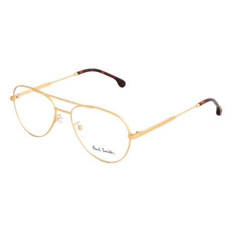 Unisex Angus Aviator Optical Frames // Matte Gold (Size 55-17-145)