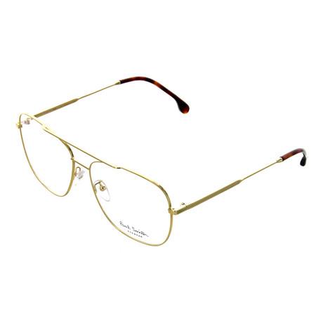 Unisex Avery Pilot Optical Frames // Gold (56-17-145)
