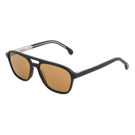 Unisex Alder Pilot Sunglasses (Black Ink + Brown)