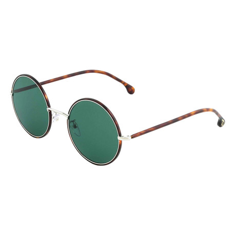 Unisex Alford Round Sunglasses (Black Ink + Gold)