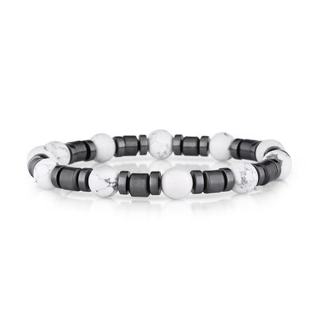 Cherokee Bracelet // Gray + White