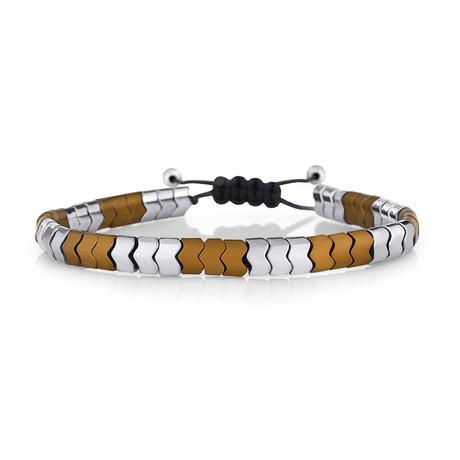 Tongass Bracelet // Silver + Orange
