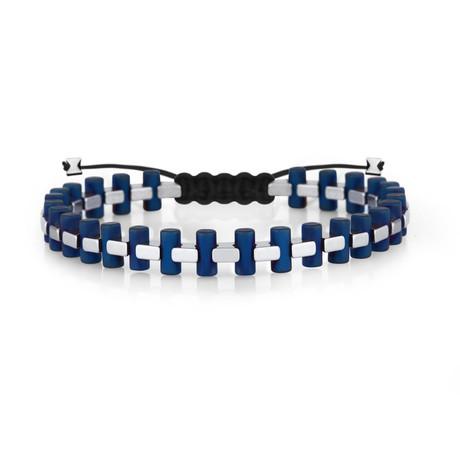 Bighorn Bracelet // Silver + Navy Blue