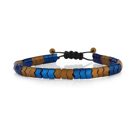 Humboldt Bracelet // Orange + Navy Blue