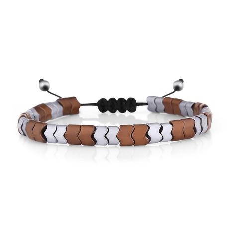 Sunset Bracelet // Silver + Brown