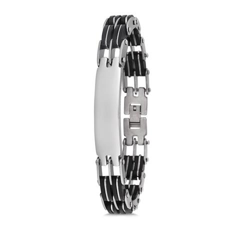 Teak Bracelet // Silver
