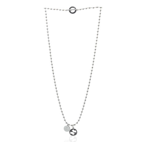 Gucci Sterling Silver Pendant Necklace IV