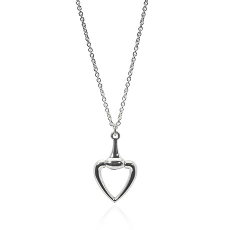 Gucci Sterling Silver Heart Necklace I
