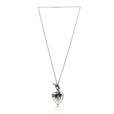 Gucci Sterling Silver Heart Necklace II