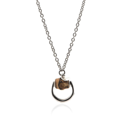 Gucci Bamboo Sterling Silver Pendant Necklace