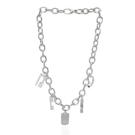 Gucci Sterling Silver Charm Necklace
