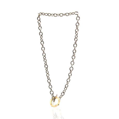 Gucci Sterling Silver Lariat Necklace