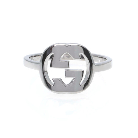 Gucci 18k White Gold Ring // Ring Size: 7.5