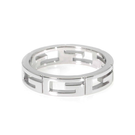Gucci 18k White Gold Ring // Ring Size: 6.75