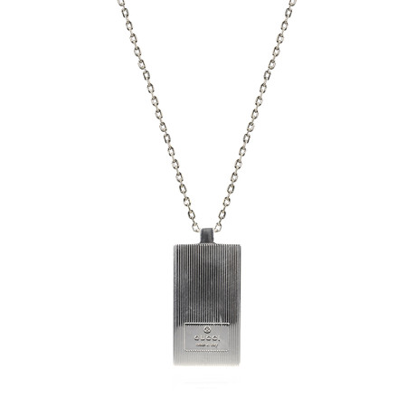 Gucci Mille Righe Sterling Silver Necklace