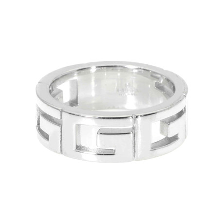 Gucci 18k White Gold Ring // Ring Size: 6.25