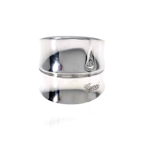 Gucci Bamboo Sterling Silver Ring // Ring Size: 7.5