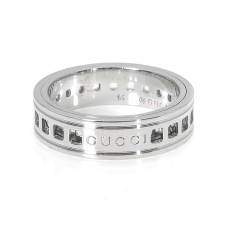 Gucci 18k White Gold Ring // Ring Size: 6.5
