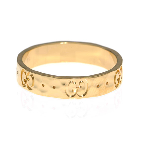 Gucci Icon 18k Yellow Gold Band Ring II // Ring Size: 6.75