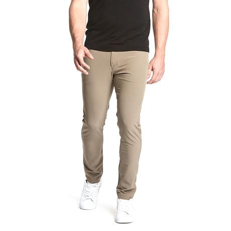 Workday Slim Pant // Dark Khaki (28WX30L)