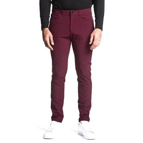 Workday Slim Pant // Maroon (28WX30L)