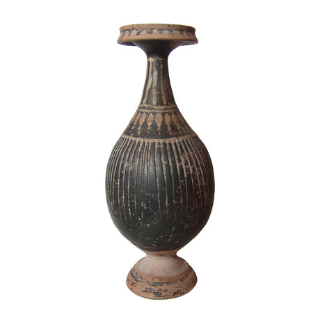 Ancient Greek Ribbed Bottle // 330 - 300 BC