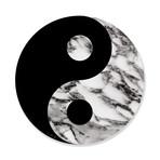 "Yin Yang (Grey Stone) // High Gloss Panel (15""W x 15""H x 0.5""D)"