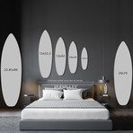 "Surfboard (Grey Stone) // High Gloss Panel (12""W x 42""H x 0.5""D)"