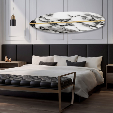 "Surfboard (Grey Stone) // High Gloss Panel (12""W x 42""H x 0.5""D)"