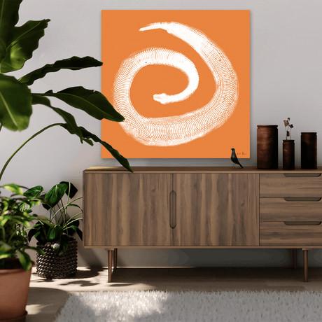 """Python Gyotaku No. 02 (White Coral) // Canvas (15""""W x 15""""H x 2""""D)"""