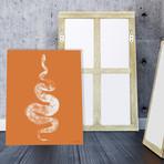 """Python Gyotaku No. 01 (White Coral) // Canvas (12""""W x 15""""H x 2""""D)"""