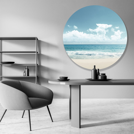 "Sun Bleached Goodness - Round // High Gloss Panel (15""W x 15""H x 0.5""D)"