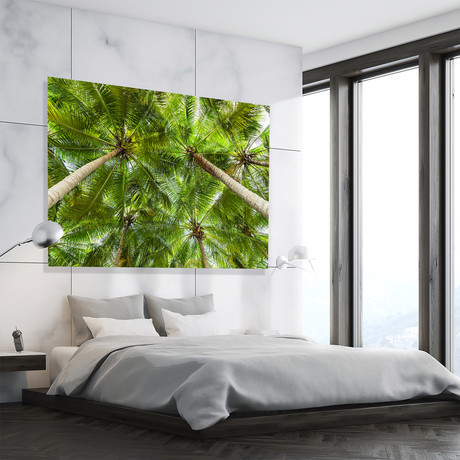 "Tropical Green Canopy // High Gloss Panel (12""W x 15""H x 0.5""D)"