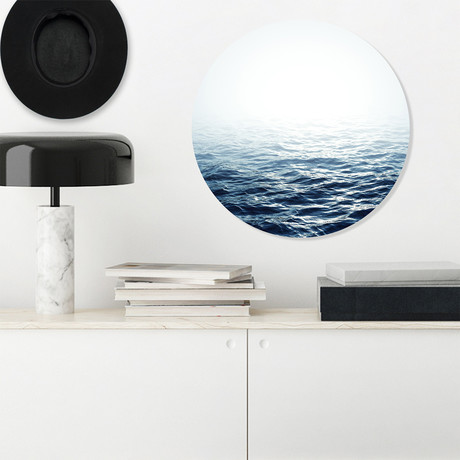"Ocean Calm // High Gloss Panel (15""W x 15""H x 0.5""D)"