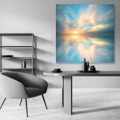 "Ocean Glory // High Gloss Panel (15""W x 15""H x 0.5""D)"