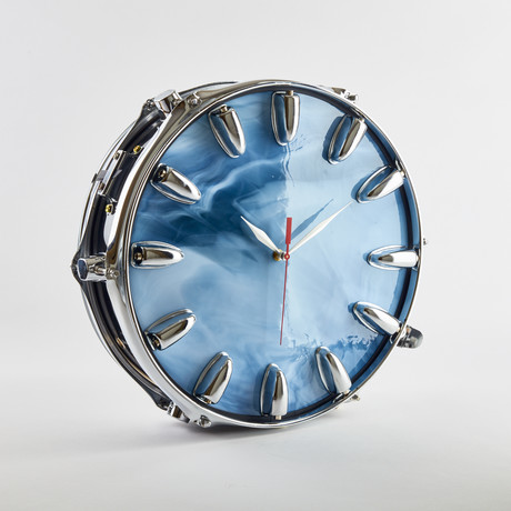 """Snare Drum Wall Clock // 13"""""""