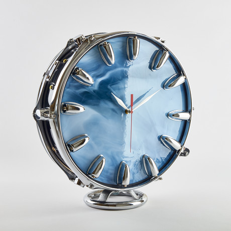 "Snare Drum Shelf Clock // 13"""