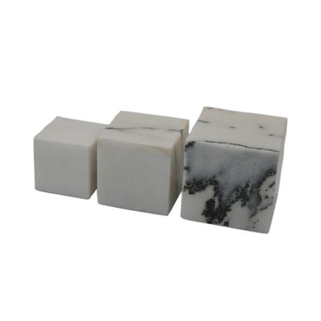 Decorative Marble Cube // Set of 3