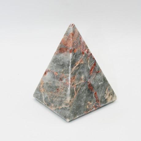 Decorative Pyramid // Salome (Gray + Claret Red)
