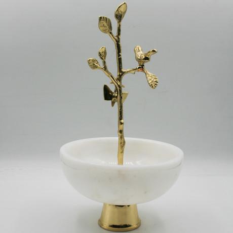 Decorative Bowl + Tree Detail (Afyon White)